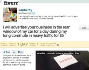 My Fiverr Ad