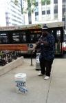 Cool street performer
